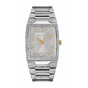 腕時計 ウィットナー メンズ Wittnauer Men's WN3036 Quartz Crystal Accents Silver-Tone Bracelet 43mm Watch aurora-and-oasis