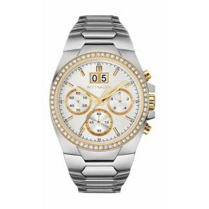 腕時計 ウィットナー メンズ Wittnauer Men's WN3047 Quartz Chronograph Silver Dial Bracelet 41mm Watch aurora-and-oasis