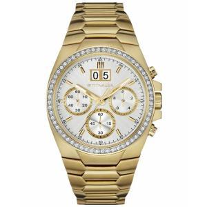 腕時計 ウィットナー メンズ Wittnauer Men's WN3055 Quartz Chronograph Crystal Accents Gold-Tone 41mm Watch aurora-and-oasis