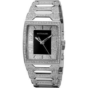 腕時計 ウィットナー メンズ Wittnauer Men's WN3037 Quartz Crystal Accents Silver-Tone Bracelet 43mm Watch aurora-and-oasis