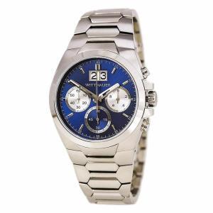 腕時計 ウィットナー メンズ Wittnauer Men's WN3048 Chronograph Quartz Blue Dial 42mm Silver-Tone Watch aurora-and-oasis