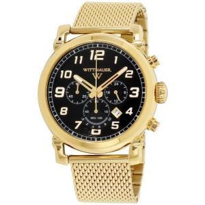 腕時計 ウィットナー メンズ Wittnauer Men's WN3071 Quartz Chronograph Black Dial Gold-Tone 44mm Watch aurora-and-oasis