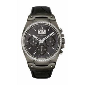 腕時計 ウィットナー メンズ Wittnauer Men's WN1012 Quartz Chronograph Crystal Accents Black 41mm Watch aurora-and-oasis
