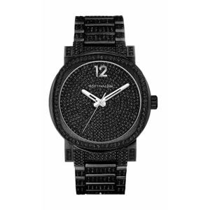 腕時計 ウィットナー メンズ Wittnauer Men's WN3008 Adien Quartz Crystal Pave Dial Black 42mm Watch aurora-and-oasis