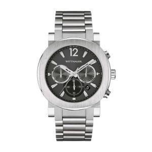 腕時計 ウィットナー メンズ Wittnauer Men's WN3003 Aiden Quartz Chronograph Silver-Tone 42mm Watch aurora-and-oasis