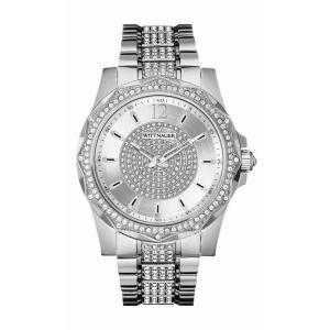 腕時計 ウィットナー メンズ Wittnauer Men's WN3013 Chevron Quartz Crystal Accents Silver-Tone 43mm Watch aurora-and-oasis