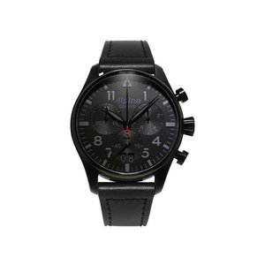 腕時計 アルピナ メンズ Alpina Men's AL-372BB4FBS6 Quartz Chronograph Black Dial Leather 44mm Watch|aurora-and-oasis