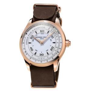 腕時計 フレデリック・コンスタント メンズ Frederique Constant Men's Quartz Brown 42mm Horological Smart Watch FC-282ASB5B4|aurora-and-oasis