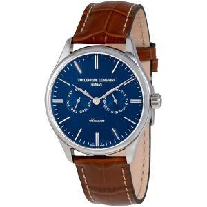腕時計 フレデリック・コンスタント メンズ Frederique Constant Classics Men's Quartz Blue Dial 40mm Watch FC-259NT5B6|aurora-and-oasis