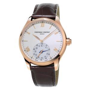腕時計 フレデリック・コンスタント メンズ Frederique Constant Men's FC-285V5B4 Quartz Horological Leather Strap 42mm Watch|aurora-and-oasis
