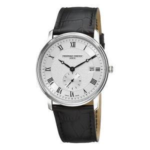 腕時計 フレデリック・コンスタント メンズ Frederique Constant Men's FC-245M5S6 Quartz Black Leather Strap 37mm Watch|aurora-and-oasis