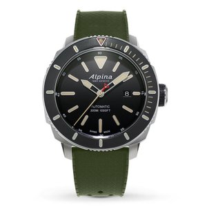 腕時計 アルピナ メンズ Alpina Men's Seastrong Diver Automatic 44mm Black Dial Green Watch AL-525LGG4V6|aurora-and-oasis