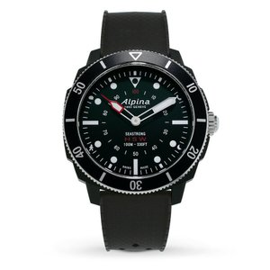腕時計 アルピナ メンズ Alpina Men's Seastrong AL-282LBB4V6 Quartz Black Rubber Strap 44mm Watch|aurora-and-oasis