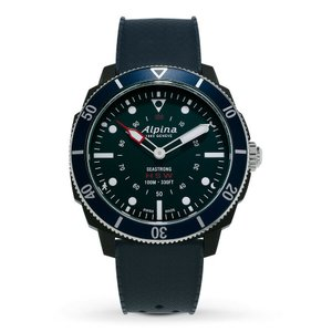 腕時計 アルピナ メンズ Alpina Seastrong Men's AL-282LNN4V6 Quartz Horological Blue Strap 44mm Watch|aurora-and-oasis