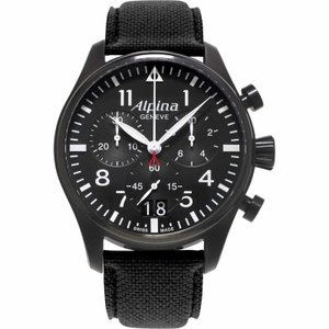 腕時計 アルピナ メンズ Alpina Startimer Pilot Men's AL-372B4FBS6 Quartz Chronograph Black 44mm Watch|aurora-and-oasis