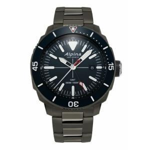 腕時計 アルピナ メンズ Alpina Seastrong Diver Men's  AL-247LNN4TV6B GMT Quartz Grey Bracelet 44mm Watch aurora-and-oasis