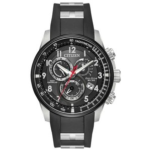 腕時計 シチズン メンズ Citizen Eco-Drive Men's PCAT Atomic Chronograph Black 44mm Watch AT4138-05E|aurora-and-oasis