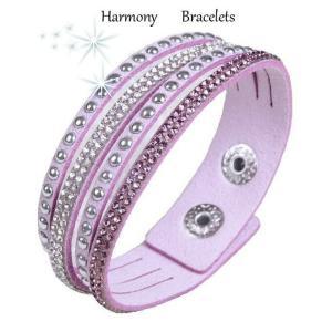 ブレスレット スワロフスキー ライラック Lilac Bracelet ea4B Slim16|aurora-and-oasis