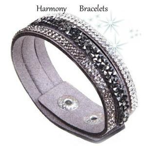 ブレスレット スワロフスキー グレー Grey Bracelet ea4B Single Glamour4|aurora-and-oasis