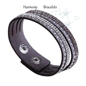 ブレスレット スワロフスキー グレー Grey Bracelet ea4B Slim4|aurora-and-oasis