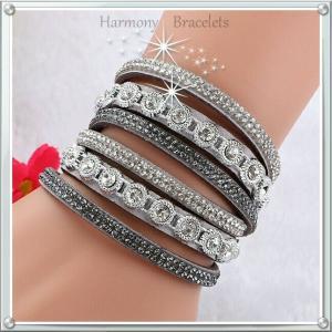 ブレスレット スワロフスキー グレー Grey Bracelet ea4B Classic1 aurora-and-oasis