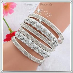 ブレスレット スワロフスキー ホワイト White Bracelet ea4B Classic4|aurora-and-oasis
