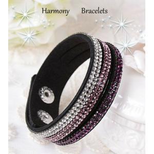 ブレスレット スワロフスキー ストライプパープル Striped Purple Sparkle Bracelet ea4B|aurora-and-oasis