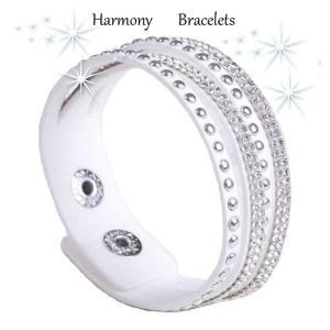 ブレスレット スワロフスキー ホワイト White Bracelet ea4B Slim14 aurora-and-oasis