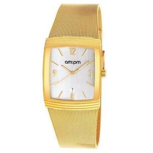 腕時計 エーエム:ピーエム メンズ AMPM Men's Quartz Watch PD134-G160 Yellow IP Steel Case And Bracelet|aurora-and-oasis