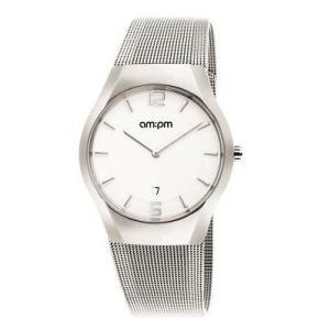 腕時計 エーエム:ピーエム メンズ AMPM Men's Analogue Quartz Watch PD135-G166 Steel Case Steel Bracelet|aurora-and-oasis