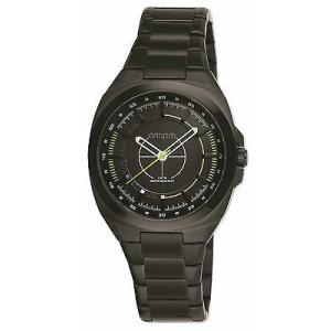 腕時計 エーエム:ピーエム メンズ AMPM Men's Analogue Quartz Watch PG117-U090 Black IP Steel Bracelet|aurora-and-oasis