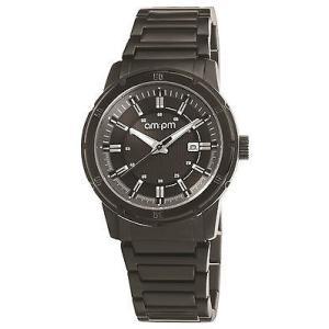 腕時計 エーエム:ピーエム メンズ AMPM Men's Analogue Quartz Watch PG119-U098 Black IP Steel Bracelet|aurora-and-oasis