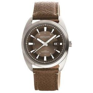 腕時計 エーエム:ピーエム メンズ AMPM Men's Analogue Quartz Watch PG120-U101 Steel Case Brown Leather Strap|aurora-and-oasis