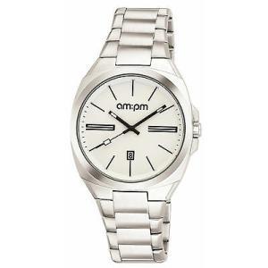 腕時計 エーエム:ピーエム メンズ AMPM Men's Analogue Quartz Watch PG121-U103 Steel Case Steel Bracelet|aurora-and-oasis