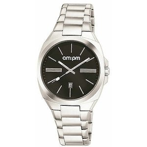 腕時計 エーエム:ピーエム メンズ AMPM Men's Analogue Quartz Watch PG121-U104 Steel Case Steel Bracelet|aurora-and-oasis