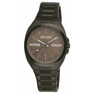腕時計 エーエム:ピーエム メンズ AMPM Men's Analogue Quartz Watch PG121-U105 Black IP Steel Bracelet|aurora-and-oasis