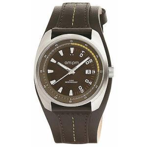 腕時計 エーエム:ピーエム メンズ AMPM Men's Analogue Quartz Watch PG126-U123 Steel Case Black Leather Strap|aurora-and-oasis