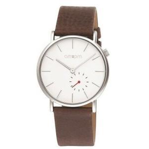 腕時計 エーエム:ピーエム メンズ AMPM Unisex Analogue Quartz Watch PD132-U147 Steel Case Brown Leather Strap|aurora-and-oasis