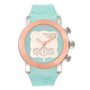 腕時計 マルコ Mulco Unisex MW5-2873-413 White Dial Blue Silicone Band Japanese Quartz Watch aurora-and-oasis