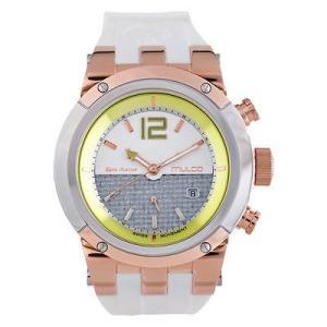 腕時計 マルコ Mulco Unisex MW5-1621-146 Grey Dial White Silicone Band Quartz Watch aurora-and-oasis