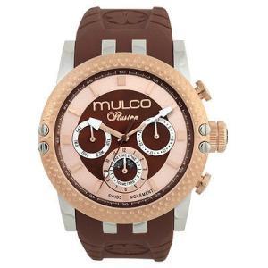 腕時計 マルコ Mulco Unisex 47mm Brown Band Steel Case Swiss Quartz Watch MW3-11169-033 aurora-and-oasis