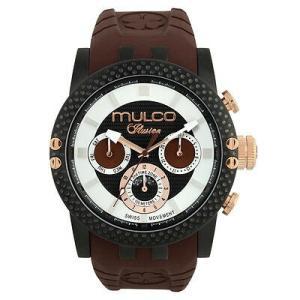 腕時計 マルコ Mulco Unisex 47mm Brown Band Steel Case Swiss Quartz Watch MW3-11169-035 aurora-and-oasis