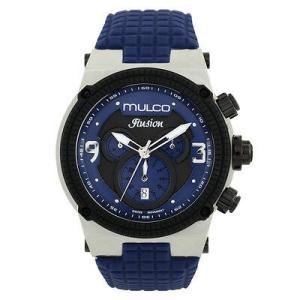 腕時計 マルコ Mulco Unisex MW3-12140-415 Blue Dial Blue Silicone Band Swiss Quartz Watch aurora-and-oasis