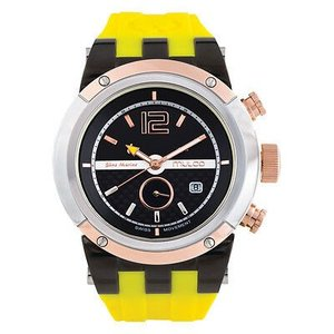 腕時計 マルコ メンズ Mulco Men's Blue Marine Yellow Silicone Band Swiss Quartz Watch MW5-1621-095|aurora-and-oasis