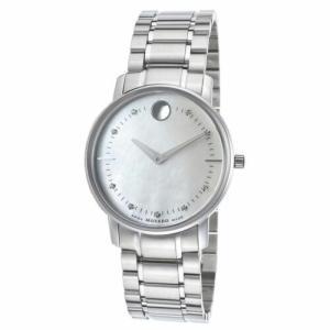 腕時計 モバード レディース Movado 0606691 Women's TC Diamond Silver-Tone Quartz Watch|aurora-and-oasis