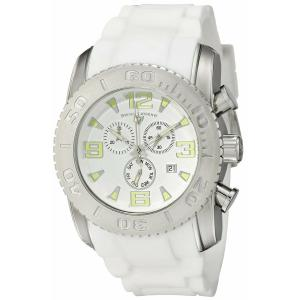 腕時計 スイスレジェンド メンズ Swiss Legend Men's Silver Steel Case White Rubber Strap Quartz Watch 10067-02|aurora-and-oasis