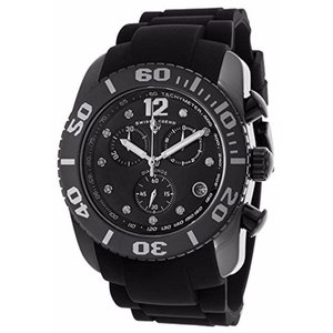 腕時計 スイスレジェンド メンズ Swiss Legend Men's Black Ceramic Case & Rubber Strap Quartz Watch 10127-01-SA|aurora-and-oasis