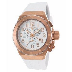 腕時計 スイスレジェンド メンズ Swiss Legend Men's Rose Gold Steel Case White Strap Quartz Watch 13844-RG-02-RA|aurora-and-oasis
