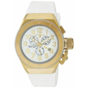 腕時計 スイスレジェンド メンズ Swiss Legend Men's Gold Steel Case White Rubber Strap Quartz Watch 13844-YG-02-GA|aurora-and-oasis