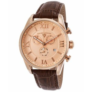 腕時計 スイスレジェンド メンズ Swiss Legend Men's Rose Gold Case Brown Strap Quartz Watch 22011-RG-09-RA-ABT51M|aurora-and-oasis